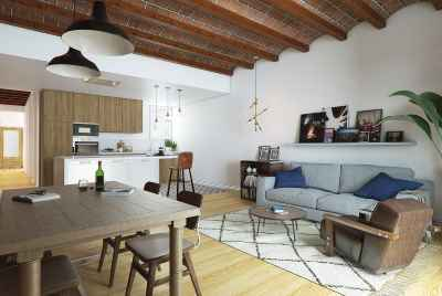 Modernist apartment with two terraces in the centre of Barcelona